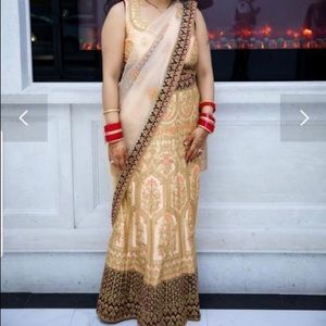 Indian Traditional Dress - Lehenga Saree fish cut